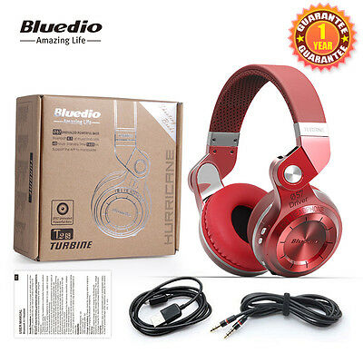 Neuf Bluedio T2S Casque Bluetooth Sans fil Stéréo Écouteur avec Microphone