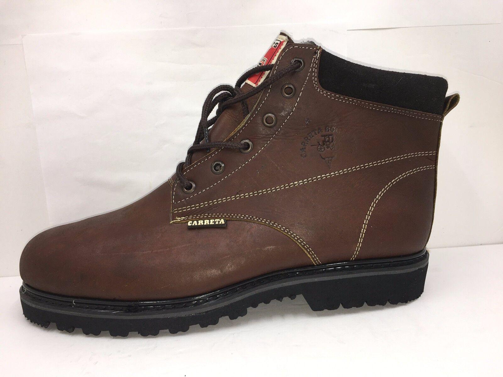 Mens Work Boots water Oil slip Resistant Brown Bota de trabajo con casquillo