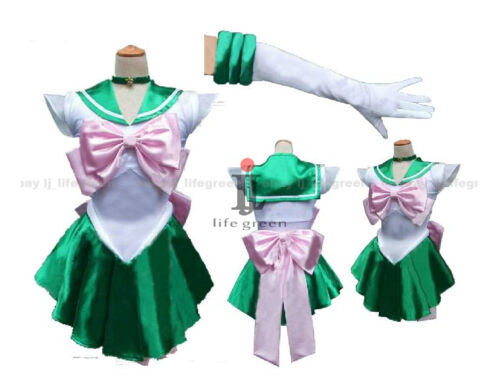 Sailor Moon Sailor Jupiter Makoto Kino Lita Kino Cosplay Costume,Whole Set