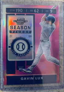 2020 Panini Chronicles Gavin Lux Contenders Optic Pink Prizm 1/25 Rookie Card 3