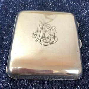 CHARLES-GREEN-amp-CO-STERLING-SILVER-CIGARETTE-CASE-WITH-GILT-INTERIOR-C1919