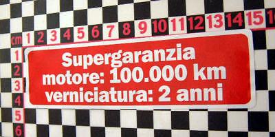 1980/'s Alfa Romeo Warranty Sticker GTV Alfasud Sprint Alfetta 33 90 75 Giulietta