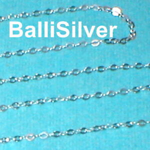 By the foot Sterling Silver 925 BULK Continuous 6mm Flat Round CHAIN
