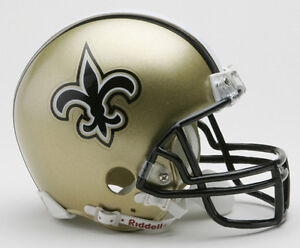 Image Is Loading NEW ORLEANS SAINTS NFL Football Helmet BIRTHDAY WEDDING