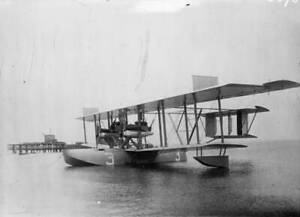 OLD-LARGE-PHOTO-AVIATION-HISTORY-the-Curtiss-NC-3-Flying-Boat-c1920