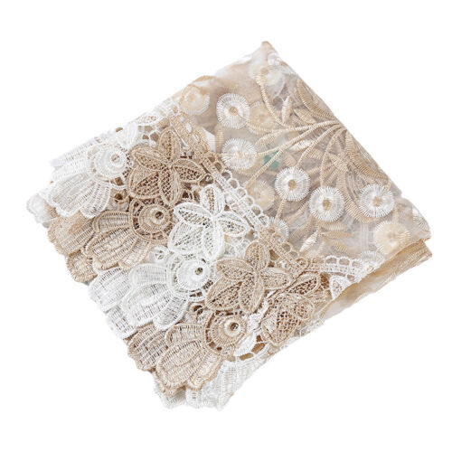 Lace Embroidery Exquisite Table Runner Cabinet Table Cover Wedding Decorator 6A