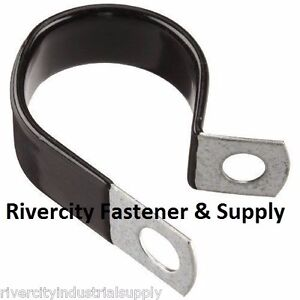 "(2) 2"" Galvanized vinyl coated closed clamps for tubing and wiring - 2 inch"