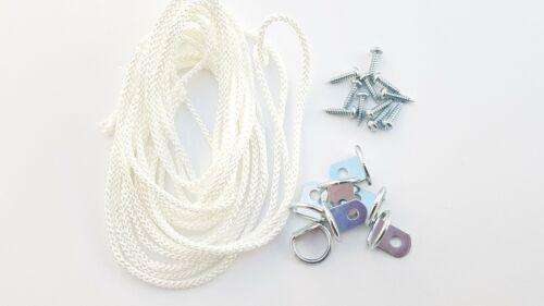 Cadre Photo D Ring vis avec cordon Nickel Toile Crochet Hanger 10 ou 20 Ensembles
