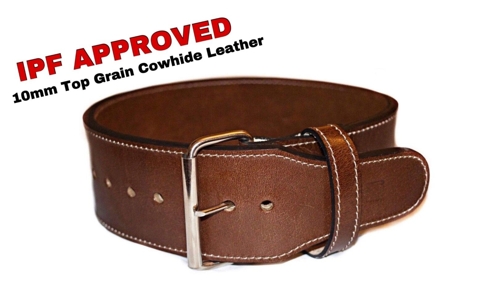 Powerlifting Single Prong 10mm Power lifting Belt  Top Grain Premium Leather
