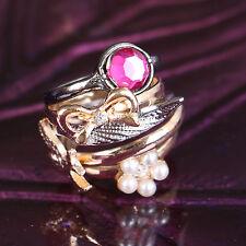 MS-333 5-teilig Ringe Rings Ring Set Schleife Bowknot Flower Modeschmuck Schmuck