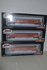 3 Atlas Rio Grande D&RGW 52' Evans Gondola Car  HO scale