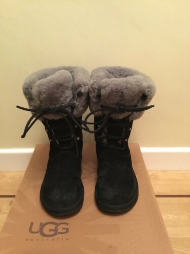 36 5 3 Size Ugg Sheepskin Montclair Boxed Boot Lace Black 6HYw8q