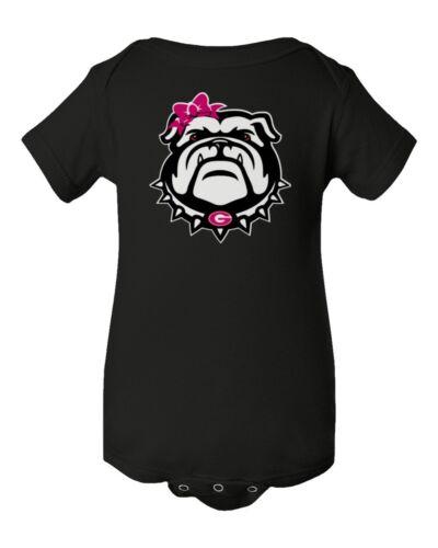 Georgia Bulldogs Girl Baby Short Sleeve Bodysuit