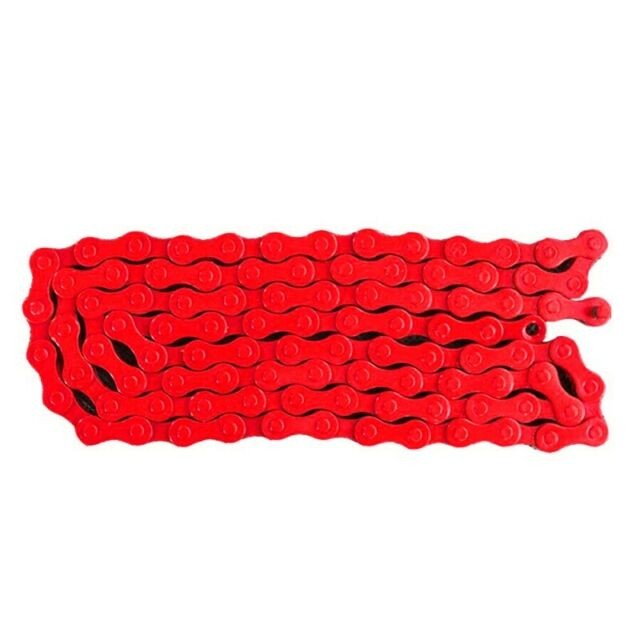 """Bicycle MTB BMX Road Bike 1/2""""X 1/8"""" Fixied Chain Single Speed 96 Link Red R6D9"""