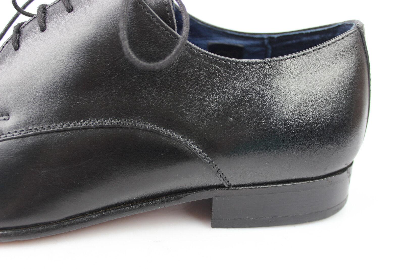 Oxfordschuhe THOMAS genäht STRENTON Vollleder genäht THOMAS schwarz t 44 sehr guter Zustand 09e1e0