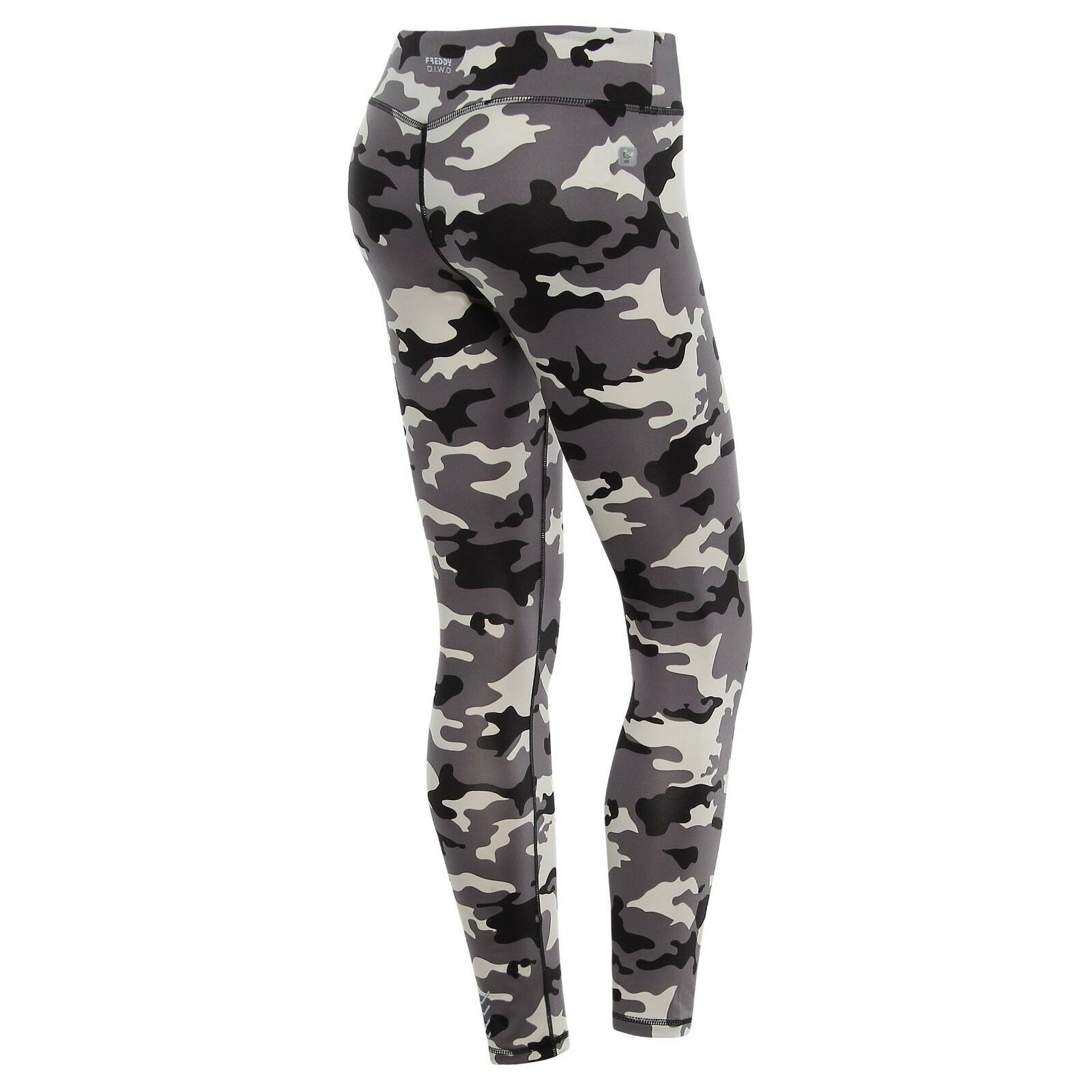 FREDDY WR.UP® WOMEN CAMO PANTS - MID WAIST BODY SHAPE LEGGINGS - SKINNY FIT-GREY