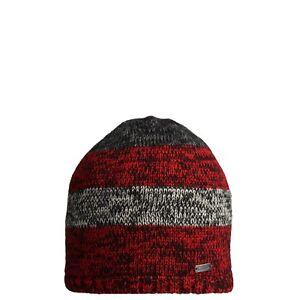 CMP-bonnet-bonnet-D-039-hiver-tricote-rouge-doublure-polaire-Patch-rechauffant