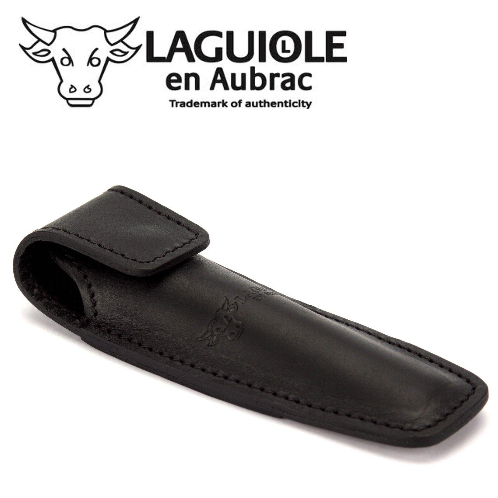 Laguiole en Aubrac ECA Gürteletui schwarz Leder Taschenmesser Messer Etui Tasche