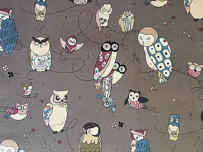 Alexander Henry Fabric, Spotted Owl Gray