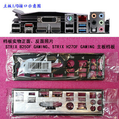 Original IO I//O Shield Back Plate Blende Bracket for ASUS STRIX Z270G GAMING CA