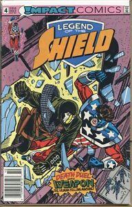 Legend-of-the-Shield-1991-series-4-UPC-code-very-fine-comic-book