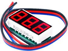 Mini Red Led Dc 0 100v Voltmeter 3 Wire 028