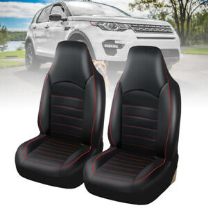 WILLKEY-UNIVERSAL-BLACK-HEAVY-DUTY-LEATHER-CAR-SEAT-COVERS-SET-CUSHIONS-PROTECT