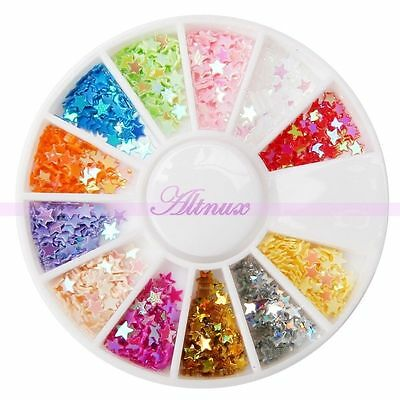 1000pcs Glitter Star Paillette Polish Acrylic UV Gel Nail Art Salon Decor Tips