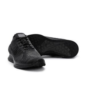 ff67eddd0f93 NEW Men s Nike Flyknit Racer Black   Black   Anthracite 526628-009 ...