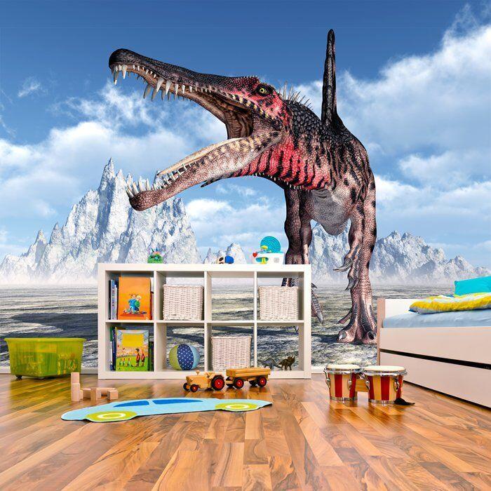 Spinosaurus brüllen Fototapete Dinosaurier Tapete Kinderzimmer Wohnkultur