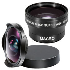 37MM 0.3X HD Ultra Fisheye Lens with Cap + 0.45x Super Wide Angle Lens
