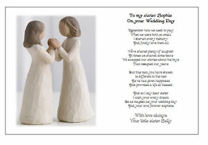 ... Wedding Day Poem Gift - TO MY SISTER on your Marriage/Wedding eBay