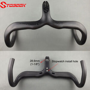 TOSEEK-Carbon-Road-Bike-Integrated-Handlebar-Stem-Drop-Bar-Racing-400-420-440mm