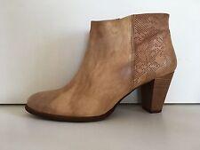 chaussure femme bottine FELMINI en cuir camel Tal. 7 cm point. 40