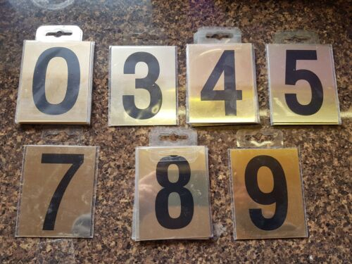 """Gold Numbers  75mm 3/""""  Self Adhesive    **Clearance Stock**"""