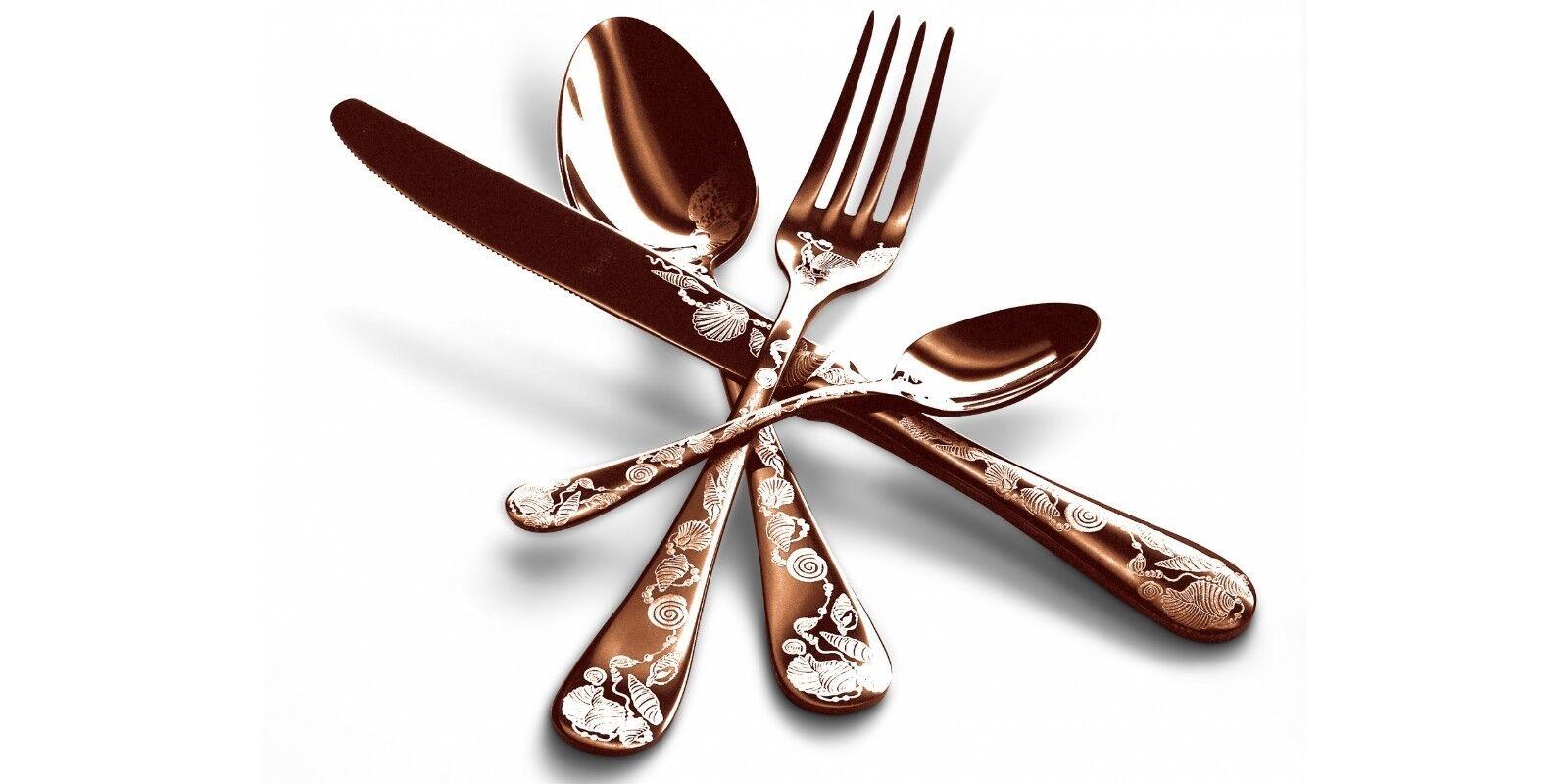 Mepra Pièces - Place Table 4 Pièces Mepra Couverts Article Venere Bronze Thè Luxury d1b7e8