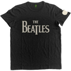 The-Beatles-Drop-T-Logo-Applique-Official-Merchandise-T-Shirt-M-L-XL-Neu