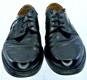 Ecco-Oxfords-Men-039-s-EUR-47-US-13-13-5-Black-Leather-Plain-Toe-Lace-Up-Dress-Shoes