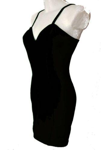 Das kleine Schwarze Stretch Baumwolle Trägerkleid Cockteilkleid Größe 34-52