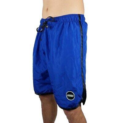 Lab84 Pantaloncini Costume Shorts Mare Sport S8 Shm1002black Royal 4059b