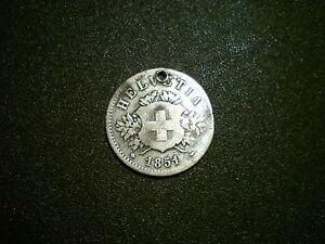 1851bb Suisse 20 Rappen Monnaie. Rare-afficher Le Titre D'origine CaractéRistiques Exceptionnelles