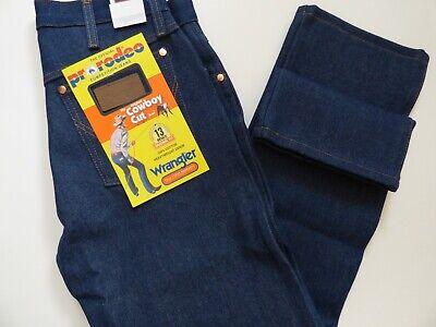 Para Hombre Rigido Wrangler Cowboy Cut 13mwz Jeans Fit Original Indigo Rigido Ebay