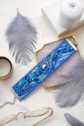 "Beading bracelet DIY Kit /""Feather touch/"" jewelry making kit"