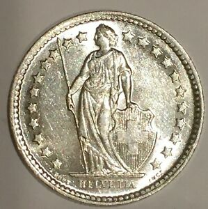 1957-Switzerland-Silver-1-2-Franc-Swiss-Coin-KM-23-free-combined-S-H
