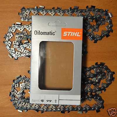 """Two x 18"""" 45cm Stihl MS251 251 MS250 250 Chainsaw Chain .325"""" 1.6mm .063 68 DL"""