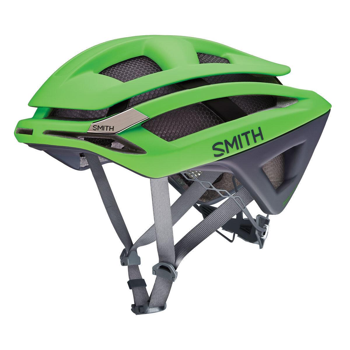 Smith Overdeake cicislmo da strada Caschetto ciclista verde grigio gardient KoroYD