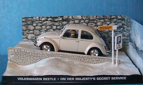 VW VOLKSWAGEN BEETLE ON HER MAJESTY'S SECRET SERVICE BOND 007 1 43 FABBRI