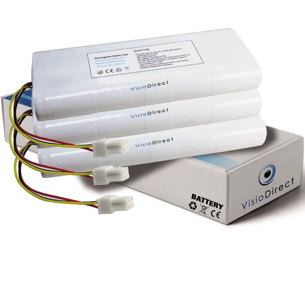 Lot de 3 batteries 14.4V 3500mAh pour Samsung Navibot SR9630 - Sté Française -