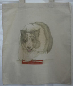 Agility-Jumping-Border-Collie-Original-Artwork-on-Canvas-and-Cotton-Bags