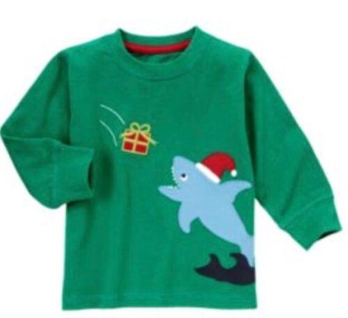 Gymboree Boys Shirts 18-24 mo Tops Shark Holiday Train Black Green Boy